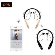 HBS-900s estéreo sem fio Bluetooth fone de ouvido 4.0 Bilateral-tipo Intelligente koptelefoons MusicLos Neckband auriculares do telefone