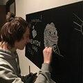 Adesivos de parede crianças desenho brinquedo do Vinil Chalkboard Blackboard 60*200 CM