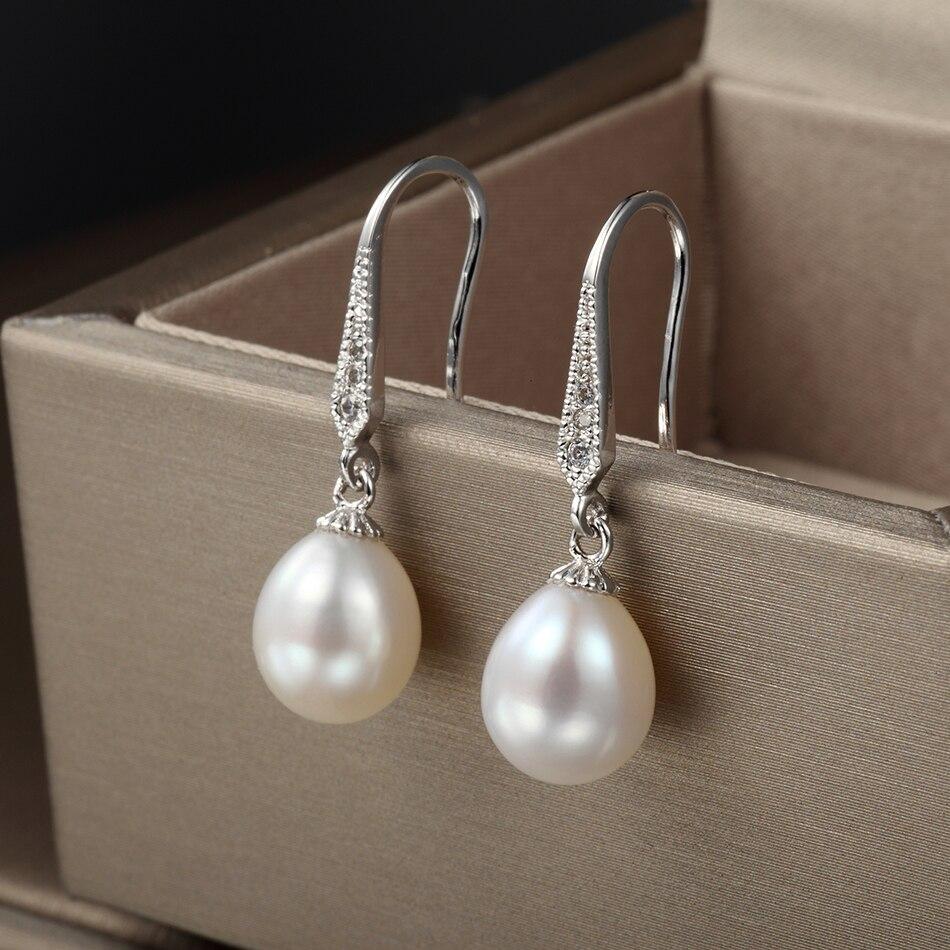 FEIGE antialérgico pendiente de perlas 8-9MM blanco perlas - Joyas - foto 3