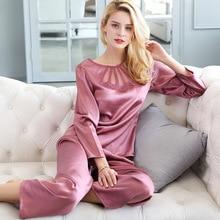CEARPION النساء بيجامة مجموعة الحرير الطبيعي فضفاض ملابس خاصة 2 قطعة قميص و السراويل الجوف ثوب النوم الصيف منامة دعوى الإناث المنزل ارتداء