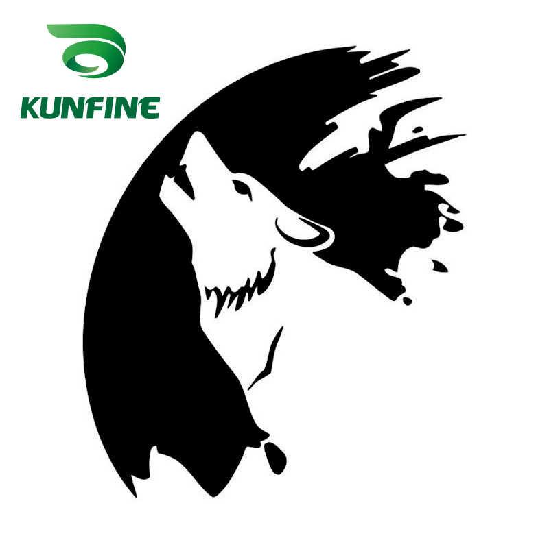 KUNFINE Lobo adesivo de Carro Estilo Do Carro Adesivo de Vinil Decalque Decoração Do Carro filme Adesivo Diy peças Tuning