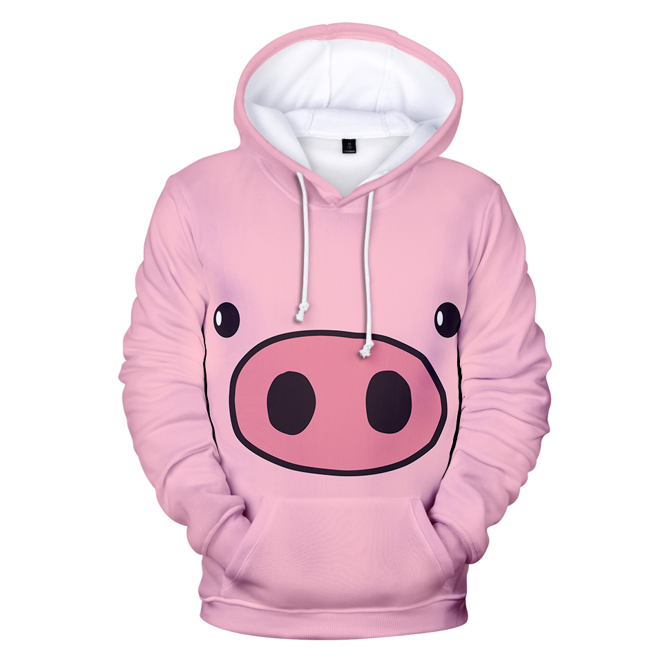 3D Cute Pig Hoodies Men Sweatshirts Fashion Women Print 3D Hoodies Pullovers Autumn Sweatshirts Anime 2019 Pig Hoodies Clothing