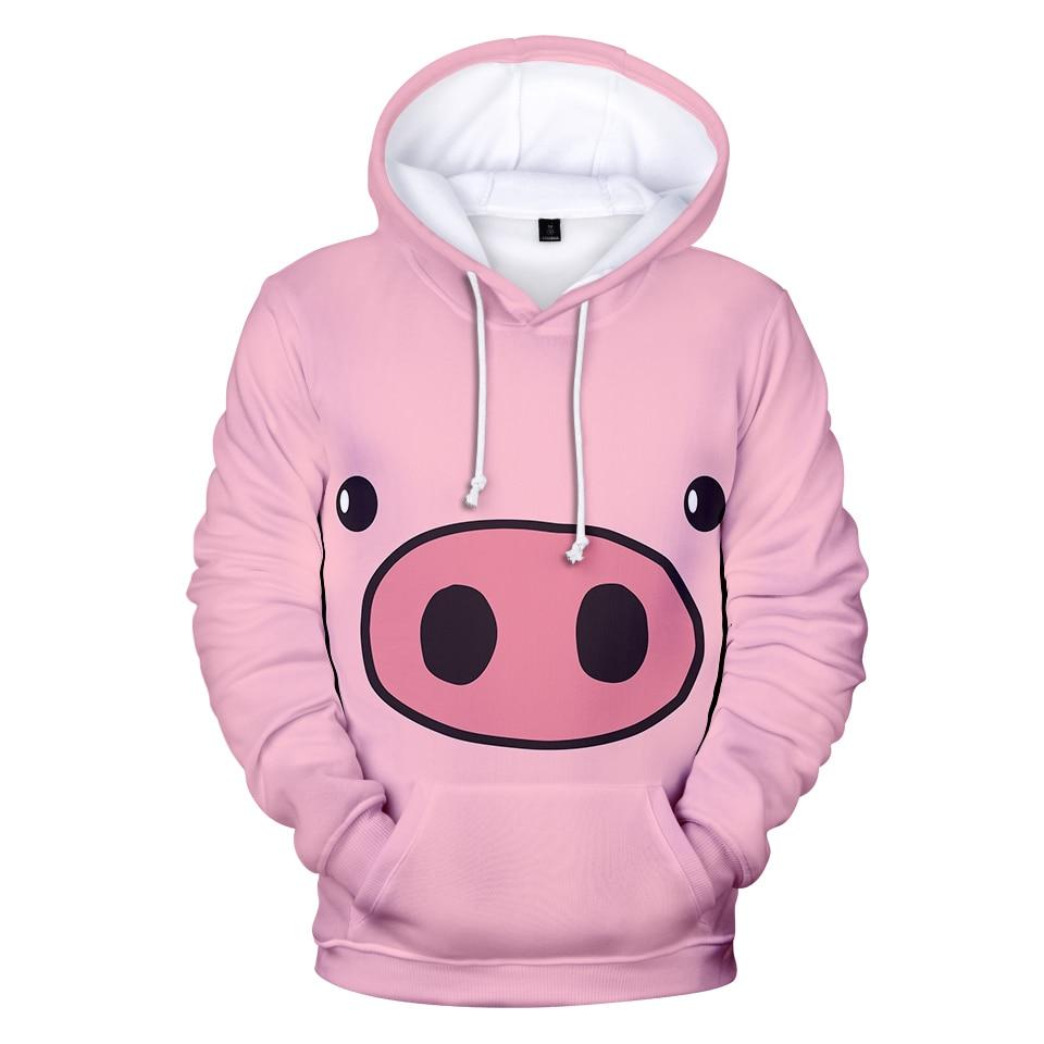 Guinea Pig Cartoon Men 3D Print Pullover Hoodie Sweatshirt with Front Pocket
