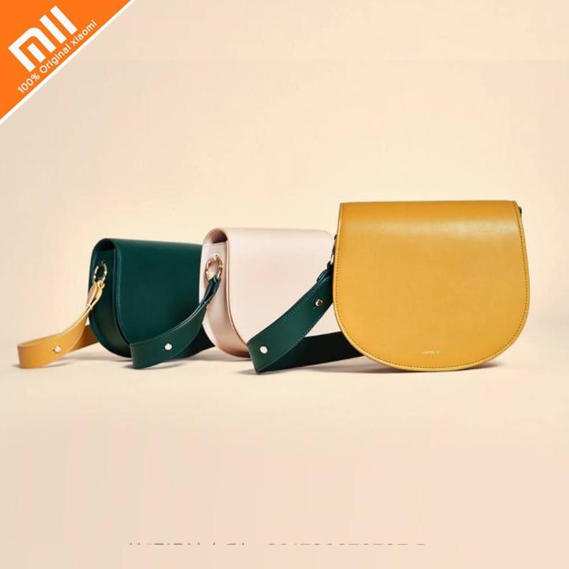все цены на Original xiaomi Mijia CARRY'O saddle bag ladies fashion casual shoulder bag small crossbody bag онлайн