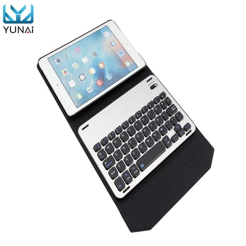 YUNAI Separate Keyboard For iPad mini 4 New For iPad mini 4 Case Leather Cover Folding Foilo For iPad mini 4 Keyboard Cover Case