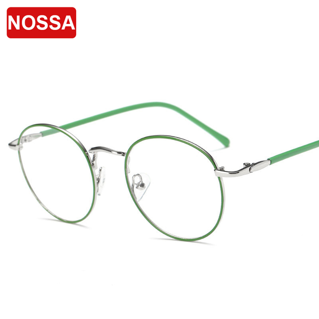 a0206d5717 NOSSA Round Metal Glasses Frame Women And Men Fashion Optical Frames  Goggles Unisex Trendy Spectacles Female Elegant Eyewear