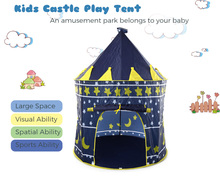 2016 New Arrival Folding Play House Pink Blue Portable Outdoor Indoor Toy Tent Castle Cubby Children Christmas Gifts