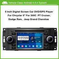 Android dvd плеер автомобиля для Chrysler 300C PT Cruiser Dodge Ram Jeep Grand Cherokee с GPS Bluetooth 1 г Процессор
