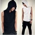Vest tidal current male summer sleeveless basic shirt fitness sports 100% thin cotton vest waistcoat tight undershirt
