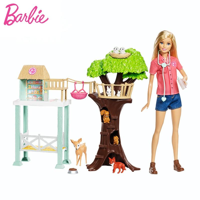 2018 Animal Doll & Playset Mooie RescuerAnimal Huis Speelgoed Building Meisje Baby Meisje Speelgoed Poppenhuis casa de Boneca Barbie-in Poppen van Speelgoed & Hobbies op  Groep 1