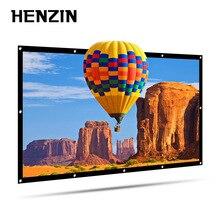 HENZIN утолщенный Портативный 100 120 дюймов 16:9 проектор экран настенный экран для проектора домашний кинотеатр проекционный экран