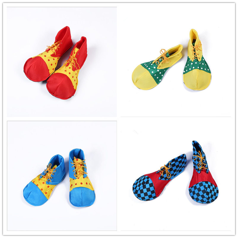 Halloween Clown Cosplay Costume Clown Dress Adult Clown Shoes Anime Men Women Shoes Funny Big Shoes Multi Color Suitable