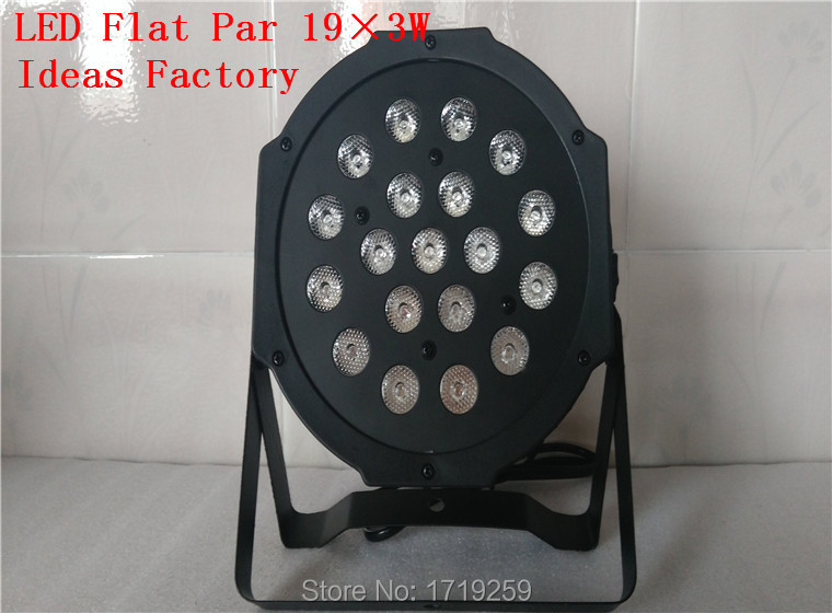 ФОТО 2PCS/LOT Fast Shipping LED SlimParad 19x3W RGB LED Stage Wash Uplighting Machinery
