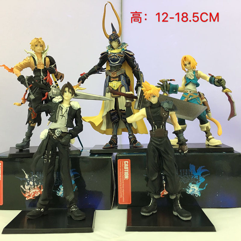 5pcs/set final Fantasy Action Figure Collectible Model Toy In Stock with Original Box