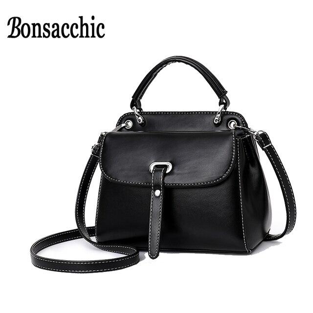 1175673cb538 Bonsacchic Small Crossbody Bags for Women Leather Handbags Summer Female  Flap Bag with Short Handles Shoulder Bag Bolsa Feminina