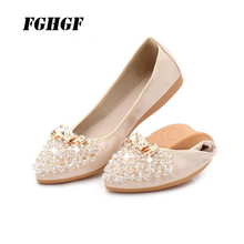 Luxury Design Women Crystal Shoes Pointed Toe Transparent Patchwork Flats Fashion Sweet Love Shape Ballet Woman