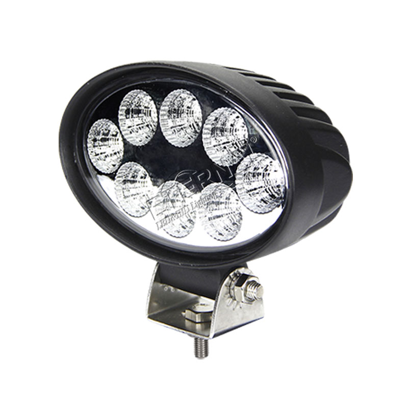 20pcs 24W oval led work light off road ATV motorcycle dring spot lamp forestry machine heavy duty construction crane excavator
