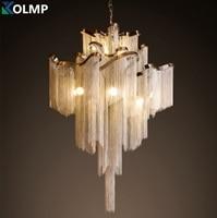 D100CM huge aluminum tassel design lighting luxury hotel hall lobby Atlantis stream chandelier light living room lampe decor