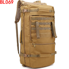 Waterproof 60L Tactical Camouflage sprots backpack men travel outdoor Military male Mountaineering Hiking Climbing Camping bags