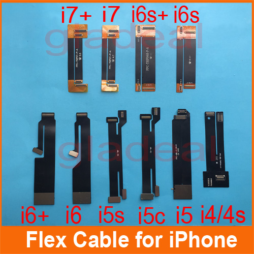 LCD Touch Screen Digitizer Lens Flex Extened Tester Cable For iPhone 4/4s 5 5s 5c 6 6s+ 7 7+ Repair Tool Machine tablet lcd flex cable for microsoft surface pro 5 model 1796 lcd dispaly screen flex cable m1003336 004