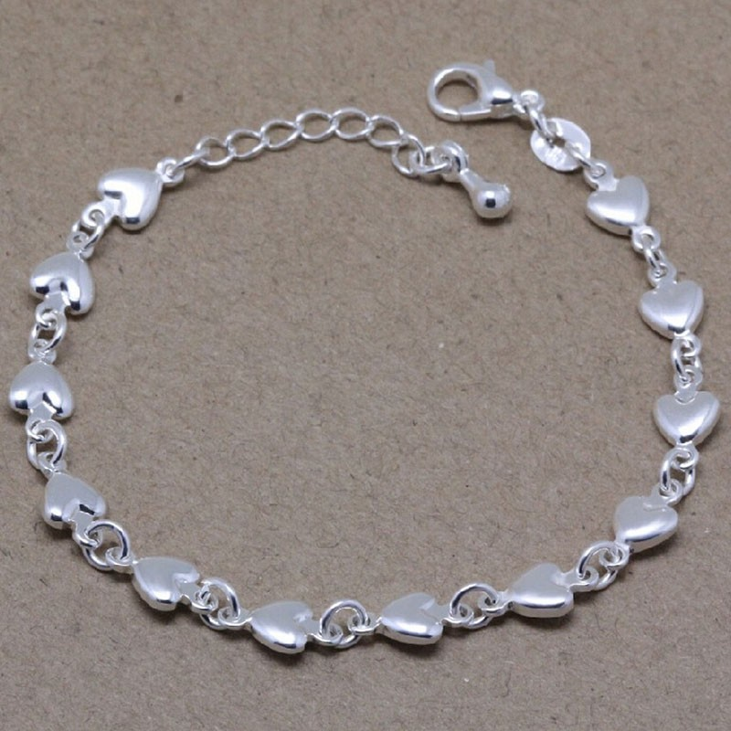 LVP6 Ztung new arrival s925 silver bracelet for women birthday gift have diiferent colors choose pd2 ztung custom made pd2 bracelet sterling silver for women and men have heart for love