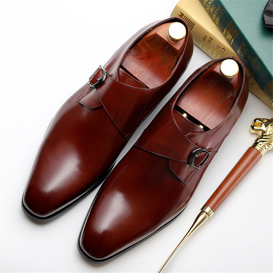 Mens formal shoes leather oxford shoes for men dressing wedding men s brogues office shoes slip