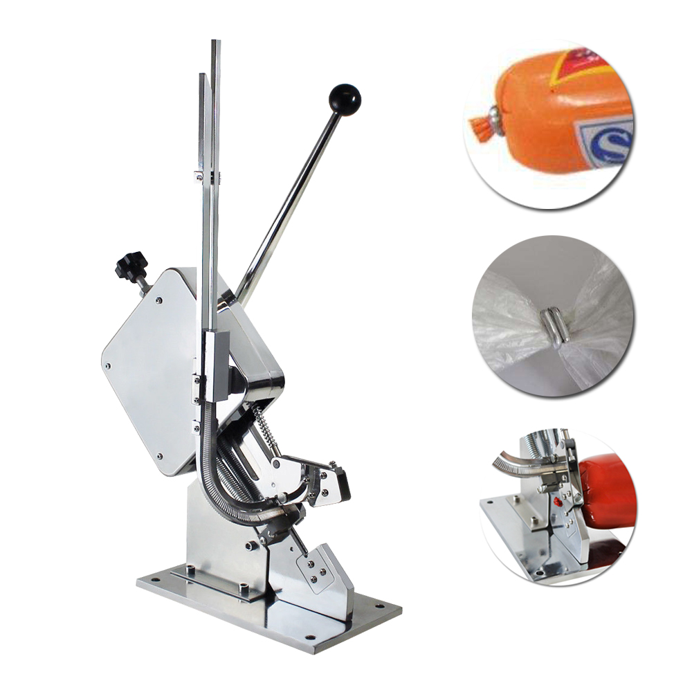 U-shape Sausage Clipper Food Clipping Maker Manual Tying Packer Machine Bag Tying Machine With 4000 Pcs Clipper