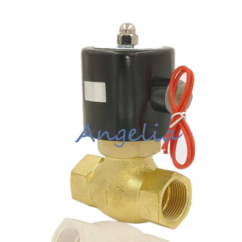 цена на AC220V DC24V G2 US-50 Electric Solenoid Valve Brass High Temperature Steam Valve Normally Closed NC