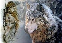 Wolf Square / Round drill Diamond Painting Sloth Full 3D Embroidery Rhinestone Mosaic Handmade Artwork