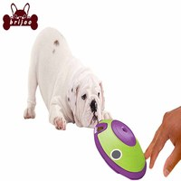 Brijoo Dog Leaky Feeder Toys Cat Dog Toys Flying Saucer Shape Pet Feeder Toys Interactive Portable Rubber Material Pet Supplies