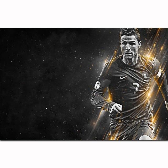 8b02503abec FX1989 Famous Football Soccer Super Star Player Cristiano Ronaldo CR7 Poster  Art Silk Light Canvas Home Room Wall Printing Decor