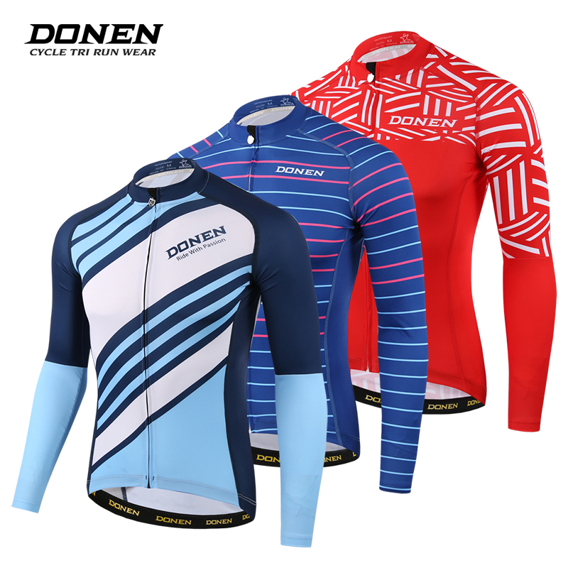 3000dd24e DONEN Summer Cycling Jersey Breathale Mountain Bike Clothing Quick Dry Racing  MTB Bicycle Clothes Uniform Cycling Clothing-in Cycling Jerseys from Sports  ...