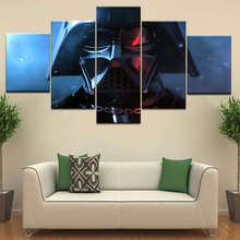 A character of Star Wars Movie 5 Panel HD Print animal modern wall posters Canvas Art Painting For home living room decoration