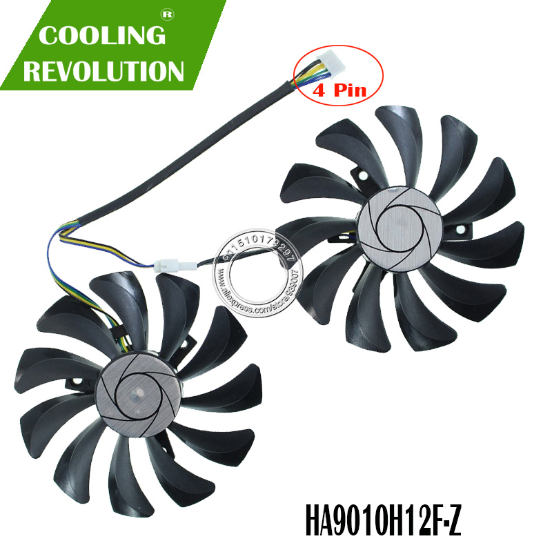 New 85MM HA9010H12F-Z 4Pin Cooler Fan Replacement For MSI <font><b>GTX</b></font> 1060 OC 6G <font><b>GTX</b></font> <font><b>960</b></font> P106-100 P106 GTX1060 GTX960 Graphics Card Fan image