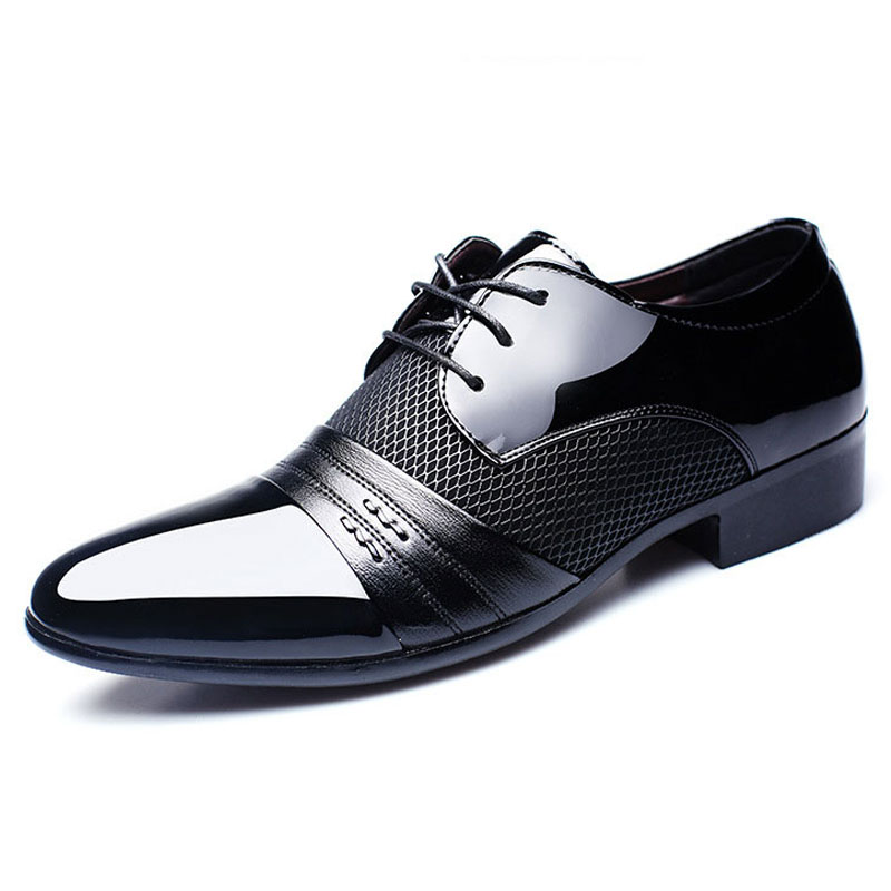 Autumn Men Classic Dress Shoes Oxford Business Lace Up Formal Office Shoes Male Breathable Shoes Plus Size 38-47 Zapatos Hombre