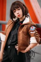 OWT Watch Over Lena Oxton Tracer Cosplay Costume Leather Jacket Spring Jacket For Women Men