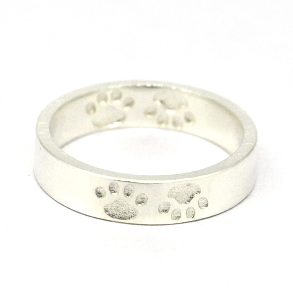 Anillo de pata de cabra de plata de ley 925 macizo, anillo de pata de - Bisutería - foto 3