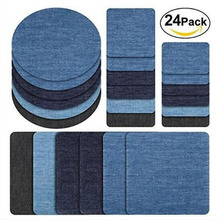 5pcs Denim Patch DIY Iron Denim Shirt Elbow Knee Patch Repair Pants For Denim Clothing And Jeans Clothing Sewing Fabric Sleeves elbow patch contrast trim t shirt