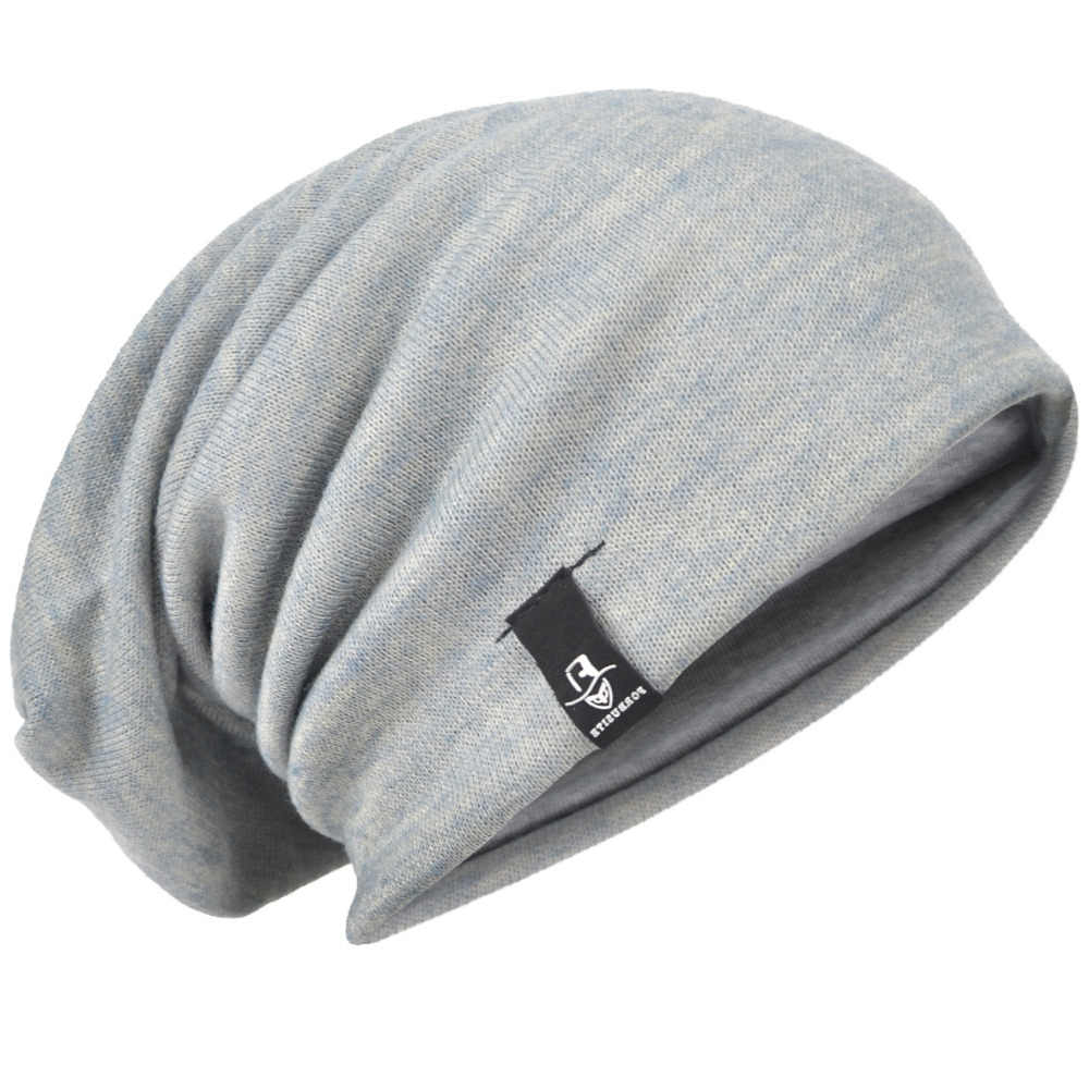 2b6654f9decca Detail Feedback Questions about Baggy Knitting Beanie Cap Solid Slouch  Beanie Hat Large Oversize Hat For Men Summer Winter Hat HISSHE on  Aliexpress.com ...