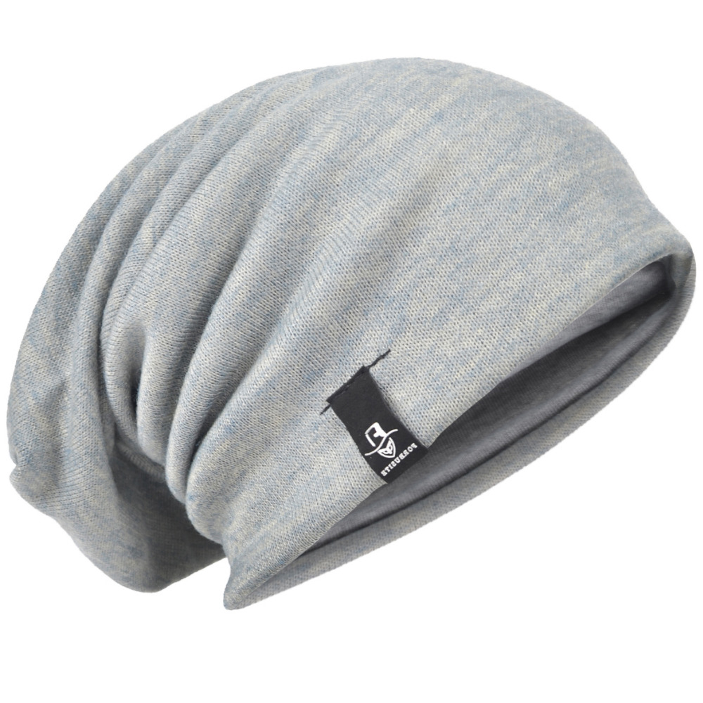 Baggy Knitting Beanie Cap Solid Slouch s