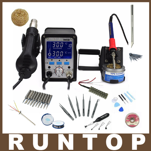 110v Or 220v 2 In 1 Soldering Station YIHUA 995D Hot Air Gun and solder iron