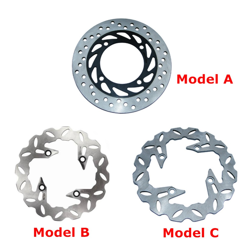 1x Steel Rear Brake Rotors Disc Braking Disks for HONDA CB250 1991-2006 CB400 VTEC I II III IV 1999-2012 CB900F HORNET 2002-2006 for honda cb400 nc23e vtec i ii iii silicone radiator hose kit1998 2007 blue 5pieces colors red blue black