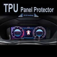 Para skoda kodiaq karoq 2017 2018 2019 carro navigator dashboard película protetora tpu protetor de tela lcd painel traço capa