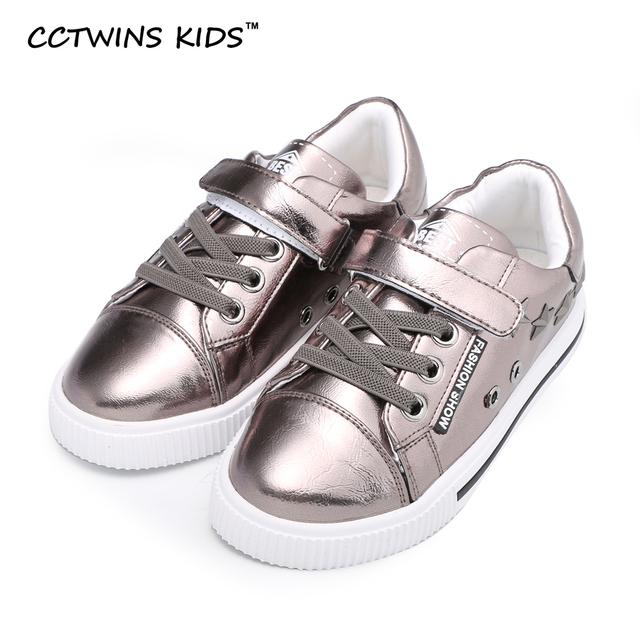 CCTWINS CRIANÇAS menino primavera outono sapato casual para crianças moda pu de couro da marca do parafuso prisioneiro sneaker treinador criança bebê menina negra