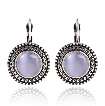 Round Vintage Drop Earrings Earrings Jewelry Women Jewelry Metal Color: H13381