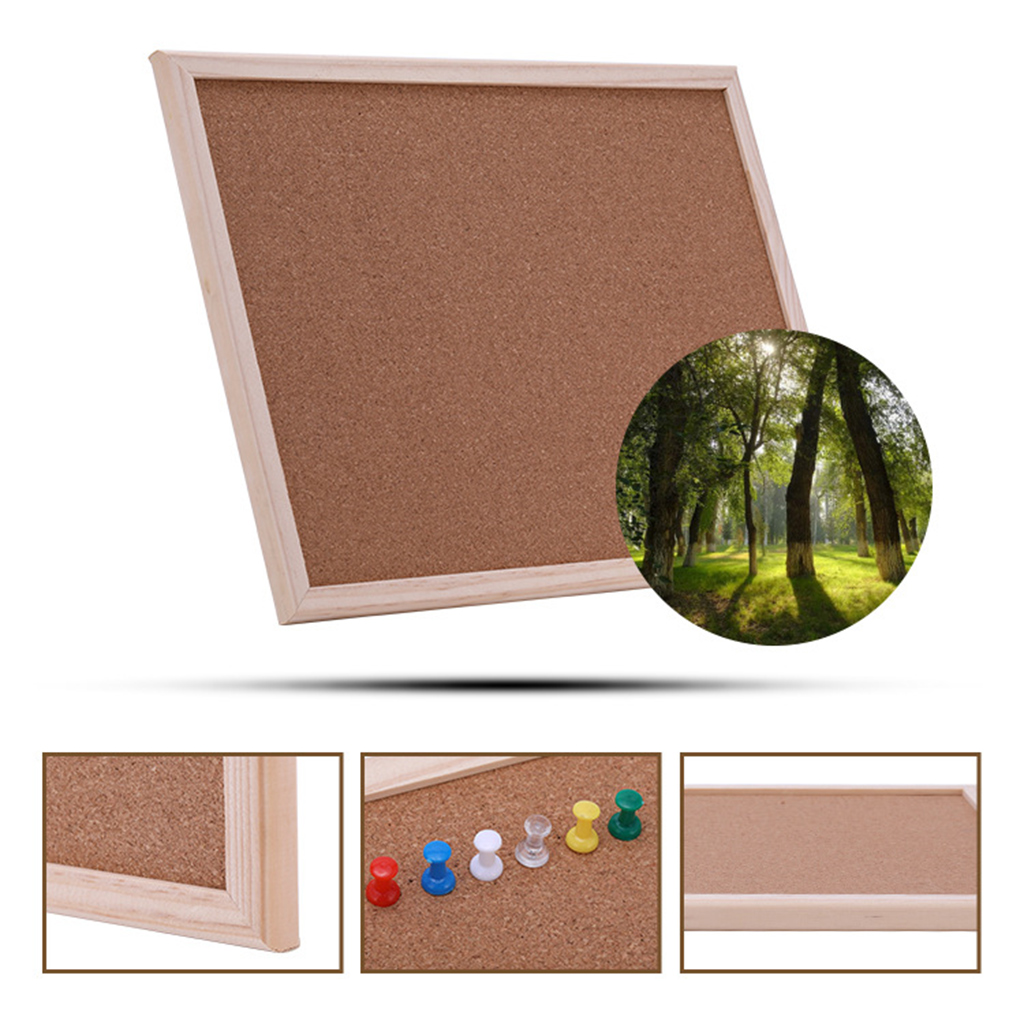 40x30cm Cork Board Drawing Board Pine Wood Frame White Boards Home Office Decorative