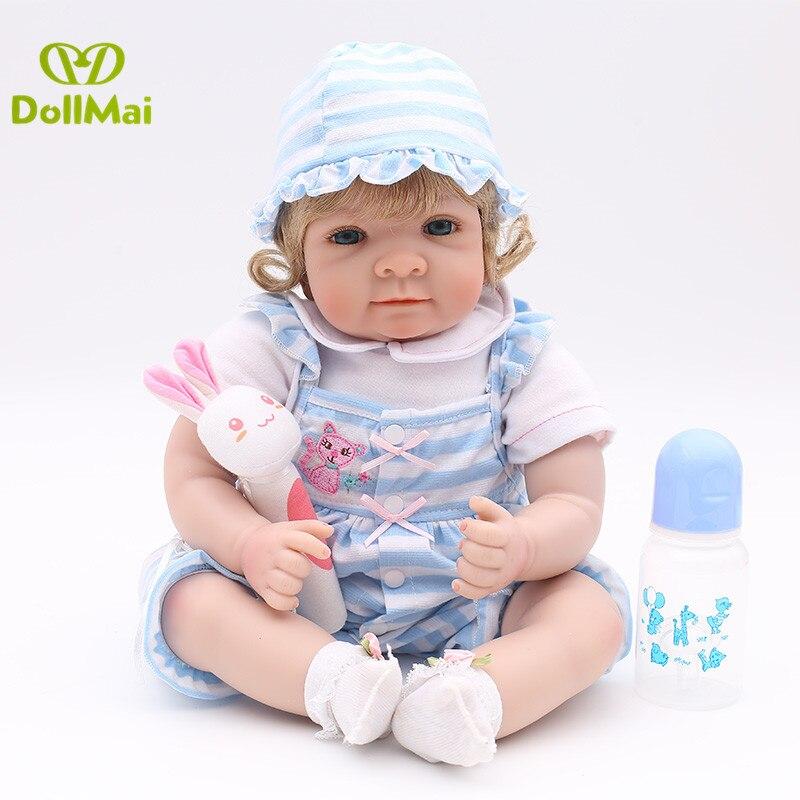 22 pouces mode 55 cm Silicone Reborn Boneca Realista mode lol reborn bébé poupées enfants cadeau d'anniversaire Bebes jouer maison jouet