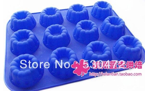 12hole Circle mould handmade soap mould ice cube tray mould cake mold hole:7*3cm