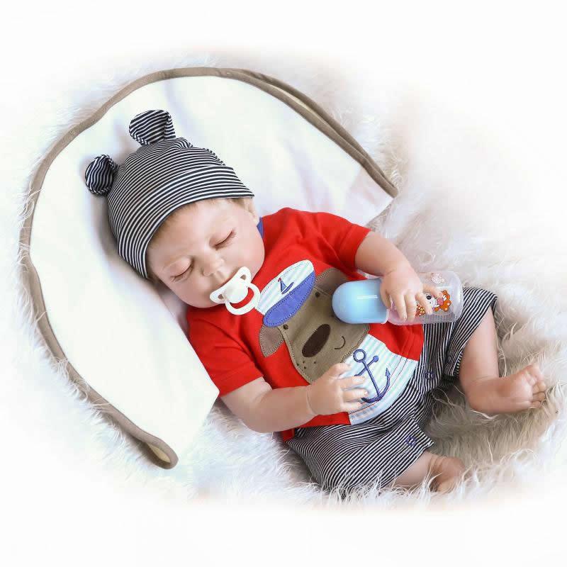 Npkcollection 23 inch / 57 cm realistis reborn bayi penuh silikon - Boneka dan aksesoris - Foto 2