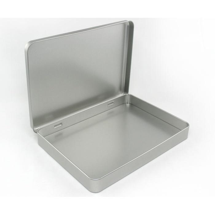 Tin Mailbox: 4pcs 220*160*28mm A5 Size Hinged Tin Box For Tablet Pad